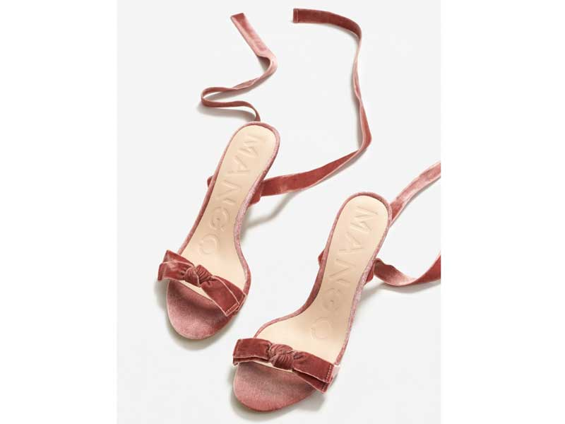 Velvet heels by Mango available at City Centres