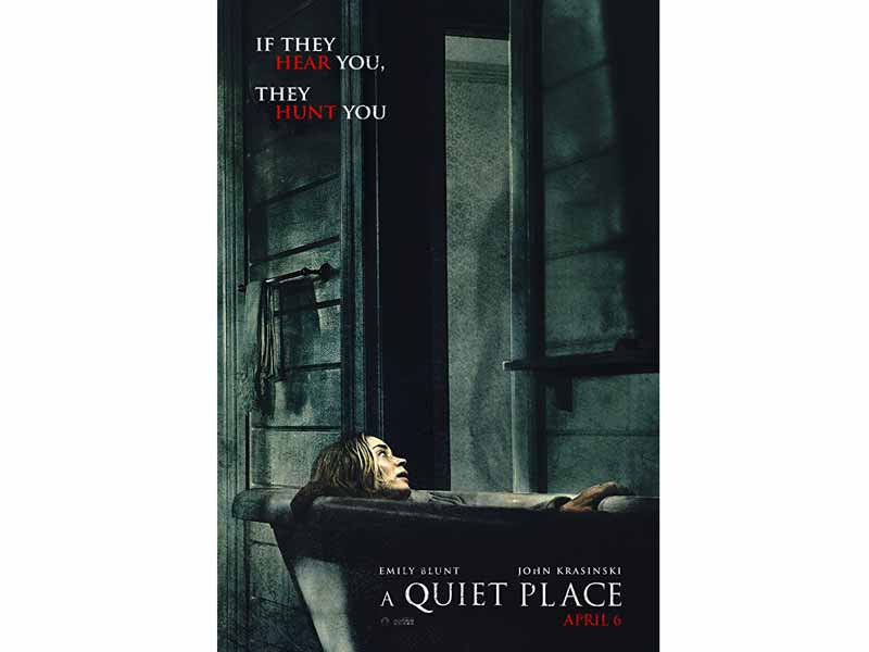 A Quiet Place movie poster at VOX Cinemas in Qurum