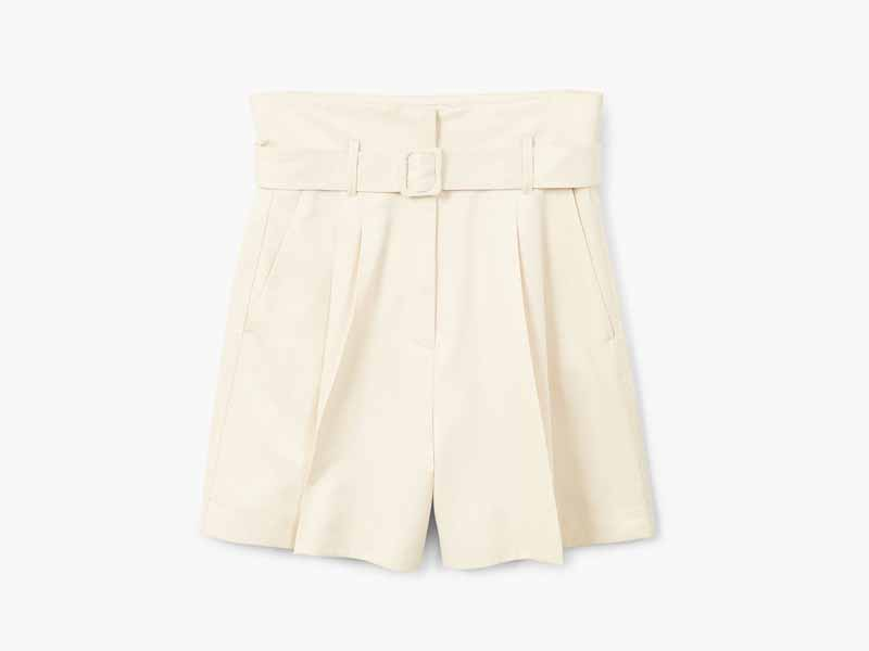 Shop Belted shorts by Mango Middle East
