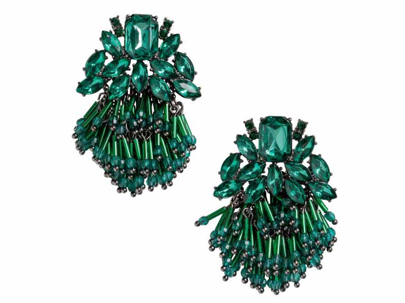 Emerald Green Earrings from H&M Qururm