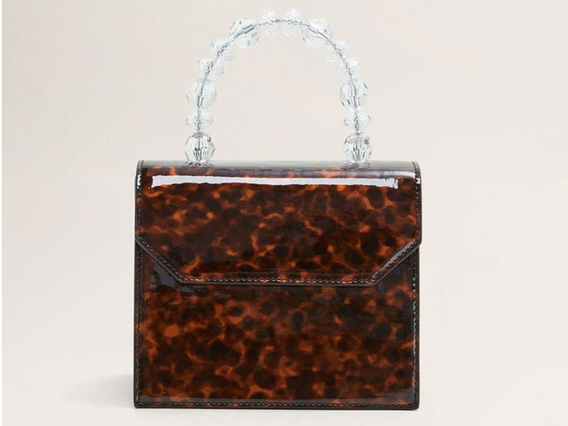 Tortoiseshell bag by Mango, available at Mall of the Emirates and City Centres