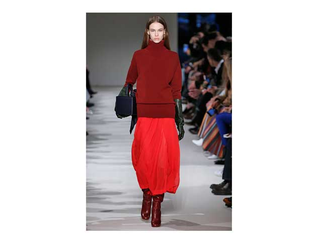 Red knits at Victoria Beckham